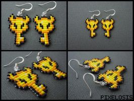 Boss Key Earrings by Pixelosis