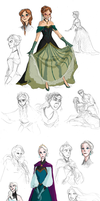 More Frozen redesigns by TheFandomWhore