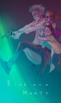 Rick and Morty by alcotton