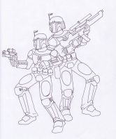 Mandalorian brothers by commander-13