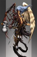 Zebadiah, the fallen angel by Chaos-Draco
