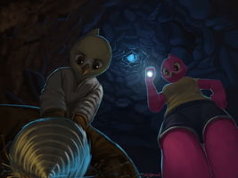 Mining together by Chickhawk96