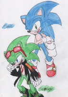 Sonic and Scourge by RockStarMaren123