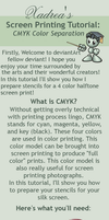 Screenprinting Tutorial: CMYK Separation by Xadrea