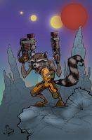 Rocket Raccoon by Plugin848y