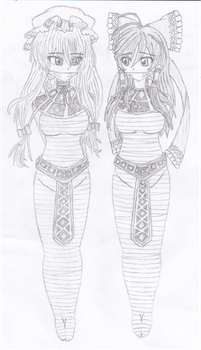 [REQUEST] Egyptian-Style Touhou Damsels by Swellragg99