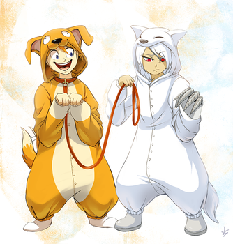 OTP Challenge Day 11: Wearing Kigurumis by DragginCat