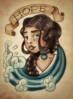 Katara - Sailor Jerry by MonicaMcClain