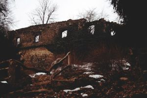 Ruin in Weimar, Germany by Nadine2390