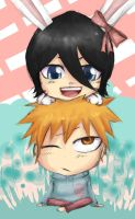 Bleach- Easter Chibis by CrispyGray
