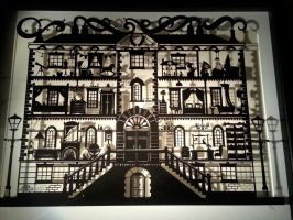 The Mouse in the Manor House - Original Papercut by PaperPandaCuts