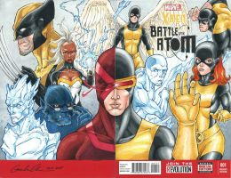 X-Men Battle of the Atom Cover Sketch by GuanlinChen