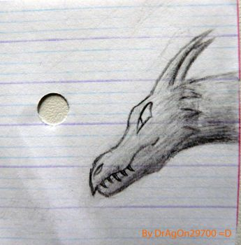 My first dragon drawing by DrAgOn29700