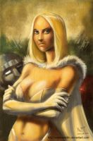 TLIID 172. Emma Frost as Mona Lisa by AxelMedellin