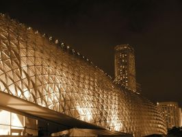 Sepia - Esplanade Theatres 4 by Ronny-Tan