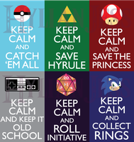 Keep Calm Fandom Badges: Gaming by HylianJess