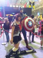 Comic Con Experience 2014 - captain america by aprict