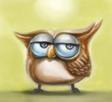 Owl Quick Sketch Painting by omegaman20