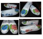Flower Shoes by blueyedwaterbender