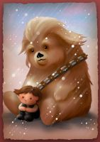 Childhood - Han Solo and Chewey by tashamille