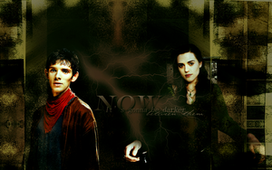 Wallpaper_Merlin and Morgana by numb22z