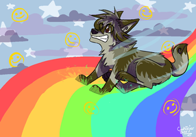 Rainbow ride by cookiiejar