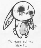 You tore my heart out by Jezzay