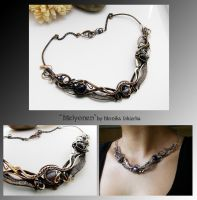 Melyonen- wire wrapped copper necklace by mea00