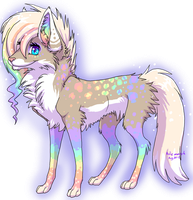 Sparkley Rainbow Wolf by Tabery