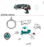 Encoded Crusader: Pistola Sonica by CgLevy