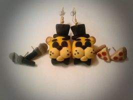 Golden Freddy Earrings+Studs! by SmashingRenders