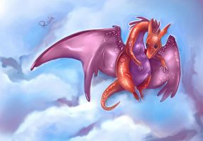 Flying lizard by Static-ghost