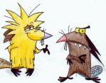 The Angry Beavers by LilKimi