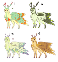 Owleer Adoptables- 1 Custom still Available by Sphinxette