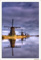 Windmills at Kinderdijk by avdstelt