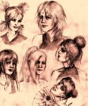 Naruto Girls sketch dump by AKFid