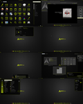 Black n Green Gnome Shell Theme v1 by CraazyT