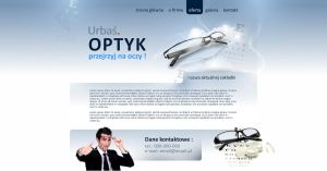 Website Lay optics glasses doctor eye optician by eeb-pl