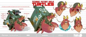 Herman-The Hermit Crab_TMNT_Design by Santolouco