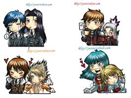 Trinity Blood,set of chibi. by juonkung