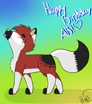 Happy Bday Ab by StarBurstAndRosieMLP