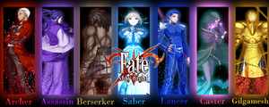 Fate Stay Night - Large piece by GrayAngel15