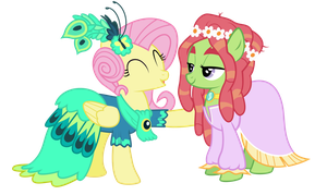 Fluttershy and treehugger by Mit-boy