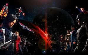 New Avengers vs Justice League by ArkhamNatic