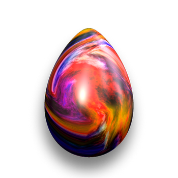 Easter Egg - Colourful Swirls by fmr0