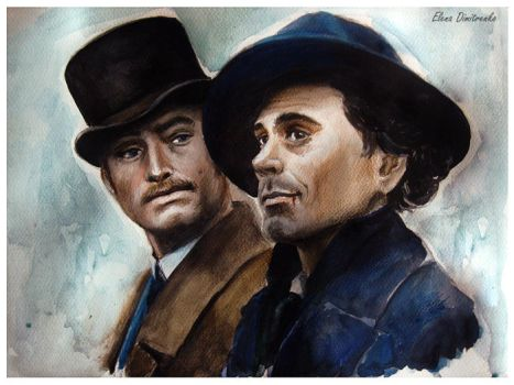 Sherlock Holmes and dr. Watson - RDJ and JL by MeduZZa13