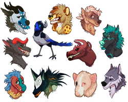 Stream headshot commissions by Velkss