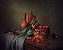 Still life with cherries by Daykiney