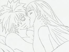 Naruto and Hinata {Kiss} by SprinkleSprankles