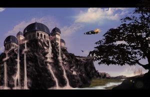 Castle on Cliff by rogueXunited